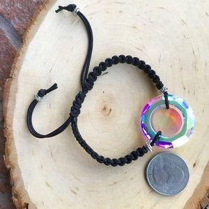 Silverskylight Jewelry - Genuine Swarovski crystal circle macrame bracelet